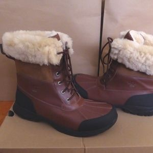 d7d0f9ab83c NEW UGG Butte Waterproof Leather Winter Boots NWT